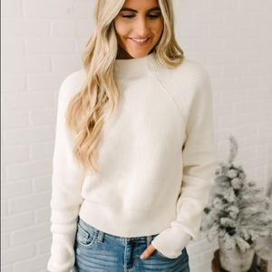 Free People Too Good Pullover Sweater Cream